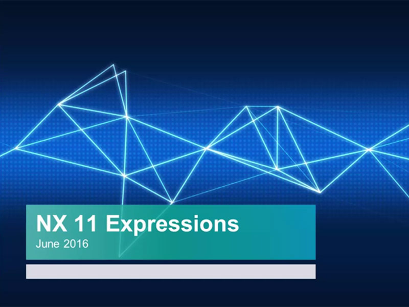 NX 11 Expressions
